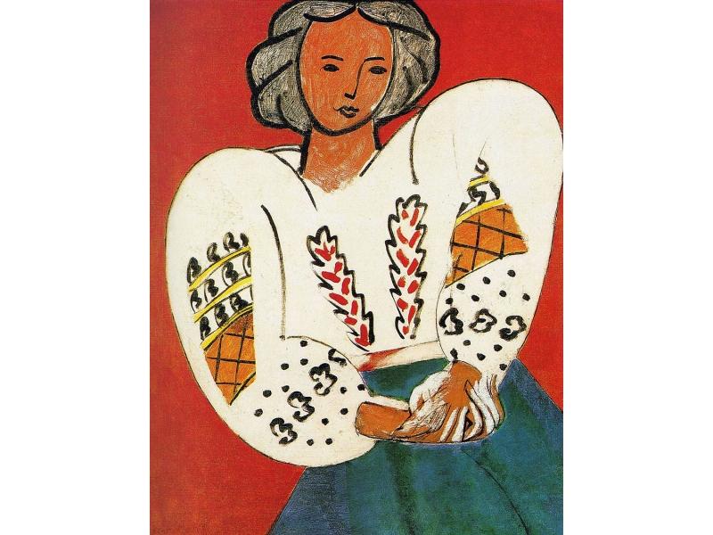 La Bluise Roumaine, obra de Matisse