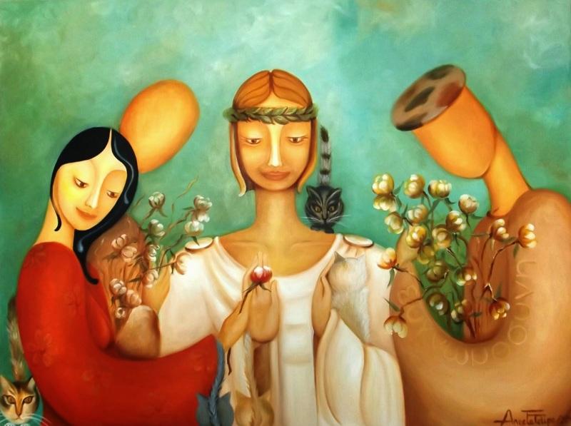gratidao, pintura de Ângela Filipe