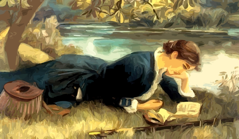 country-lady-fishing-tackle-reading-book_wallpaper