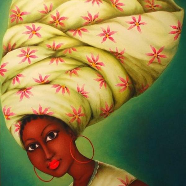 Obra de Augustin Kassi,da Costa do Marfim.