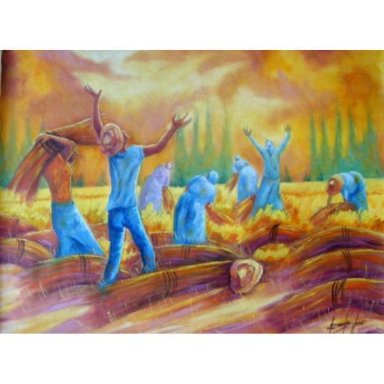 Quando repartirmos o pão da amizade, não esqueçamos que plantamos e colhemos o trigo...
