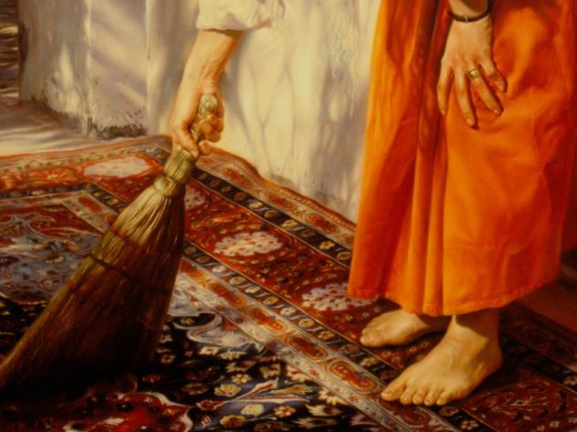 Varrer a angústia e deixar o coração limpo para os recomeços...