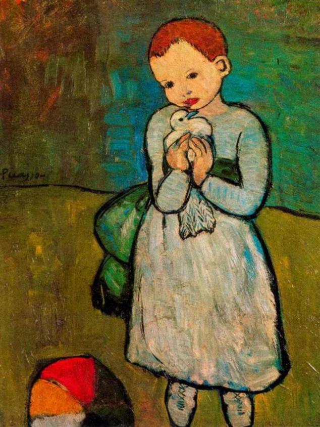 Nino com Paloma obra de Pablo Picasso