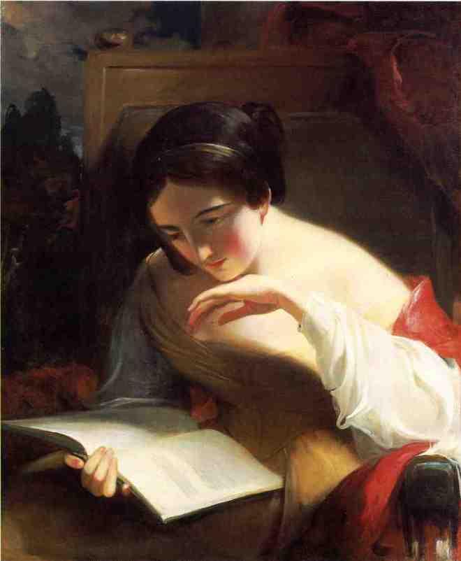 Retrato de moça lendo, Thomas Sully