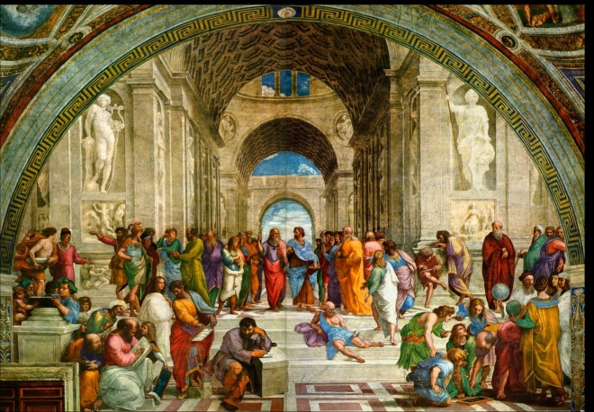 A escola de Atenas Rafael