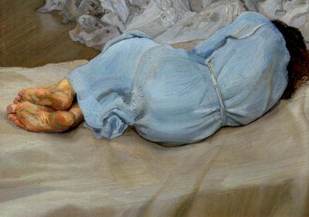 Annabel Sleeping, obra de Lucien Freud.