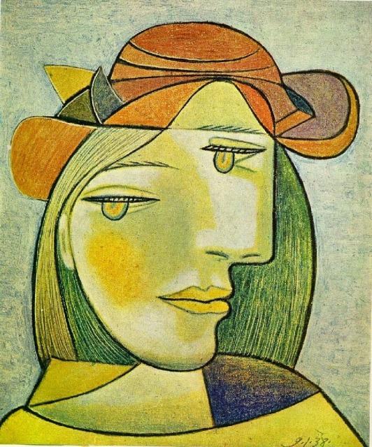 Mulher em Laranja, obra de Picasso