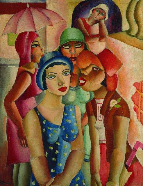 Cinco moças de Guaratinguetá, obra de Di Cavalcanti