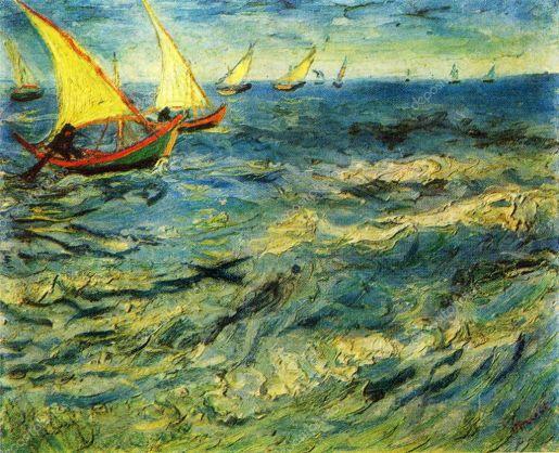 Vincent Van gogh O Mar em Saint-Marie