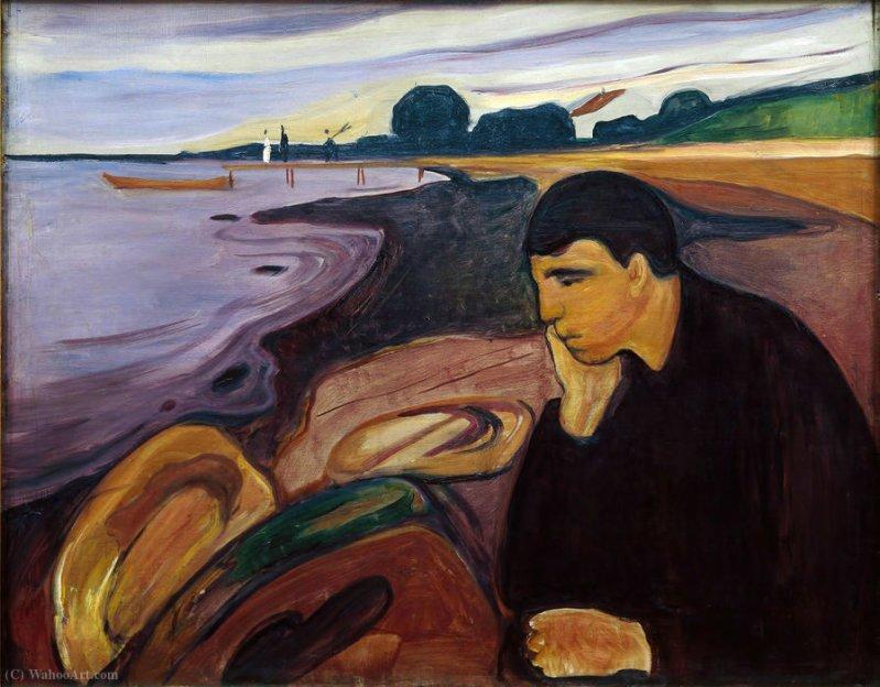 Melancolia, obra de Edvard Munch